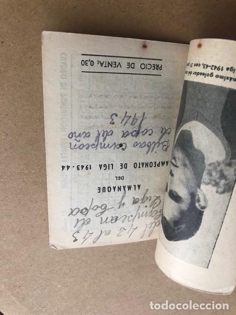 Coleccionismo deportivo: ALMANAQUE LIGA 1943 1944 43 44 MIEZA ATHLETIC DE BILBAO EDICIONES ALFONSO C2 - Foto 4 - 205374616