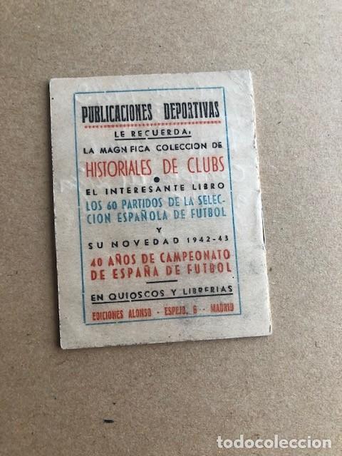 Coleccionismo deportivo: ALMANAQUE LIGA 1942 1943 42 43 EDICIONES ALFONSO C2 - Foto 2 - 205374880