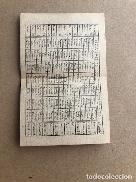 Coleccionismo deportivo: ALMANAQUE LIGA 1942 1943 42 43 EDICIONES ALFONSO C2 - Foto 3 - 205374880
