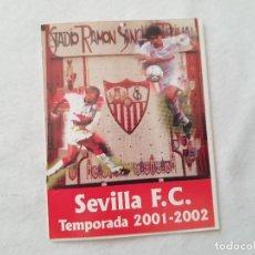 Coleccionismo deportivo: CALENDARIO LIGA 2001/2002 - SEVILLA (CON FOTOS DE OLIVERA Y GALLARDO). Lote 205399141