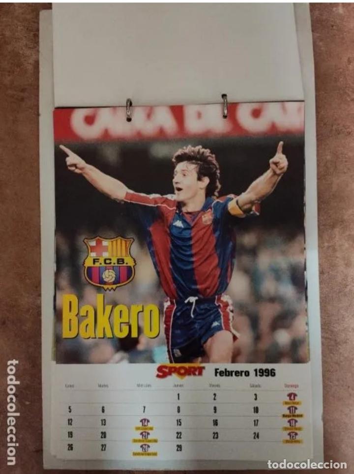 Coleccionismo deportivo: CALENDARIO BARÇA 1996 completo - Foto 2 - 205666211