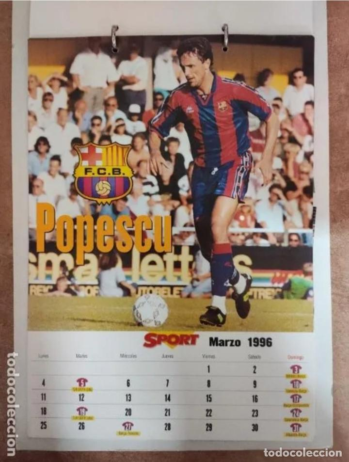 Coleccionismo deportivo: CALENDARIO BARÇA 1996 completo - Foto 3 - 205666211