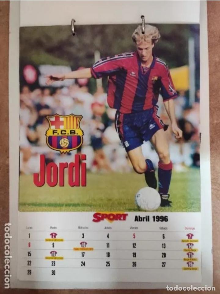 Coleccionismo deportivo: CALENDARIO BARÇA 1996 completo - Foto 4 - 205666211