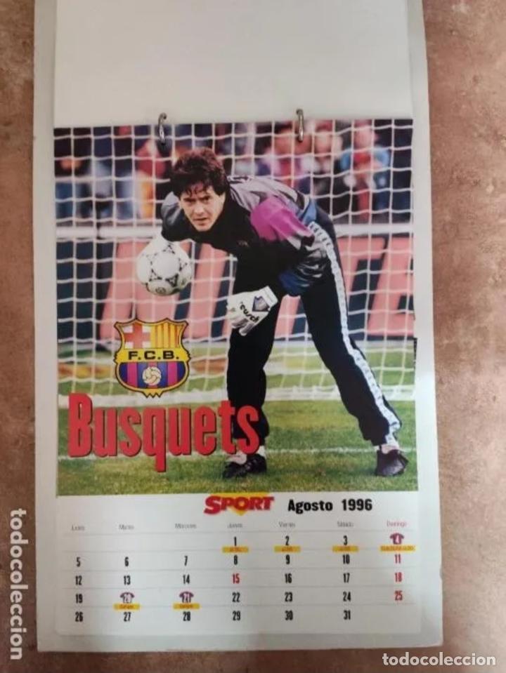 Coleccionismo deportivo: CALENDARIO BARÇA 1996 completo - Foto 8 - 205666211
