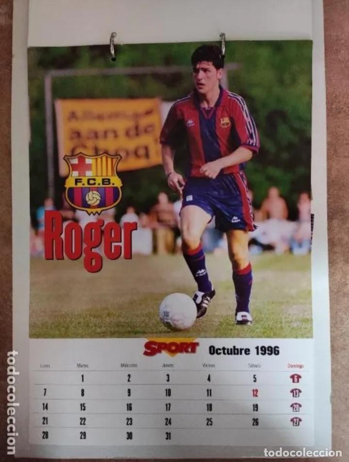 Coleccionismo deportivo: CALENDARIO BARÇA 1996 completo - Foto 10 - 205666211