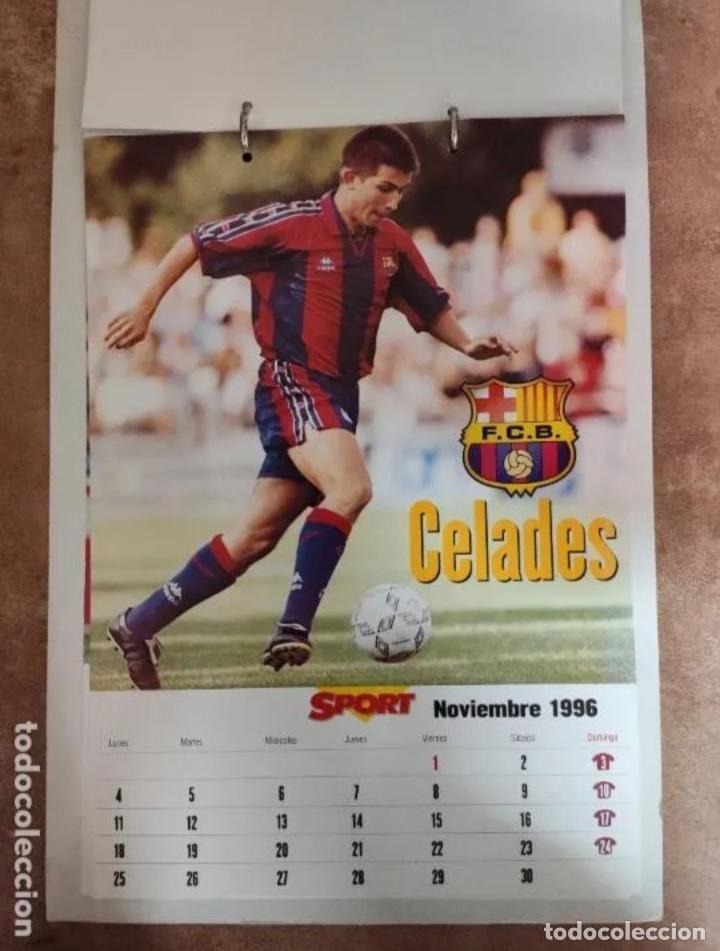 Coleccionismo deportivo: CALENDARIO BARÇA 1996 completo - Foto 11 - 205666211