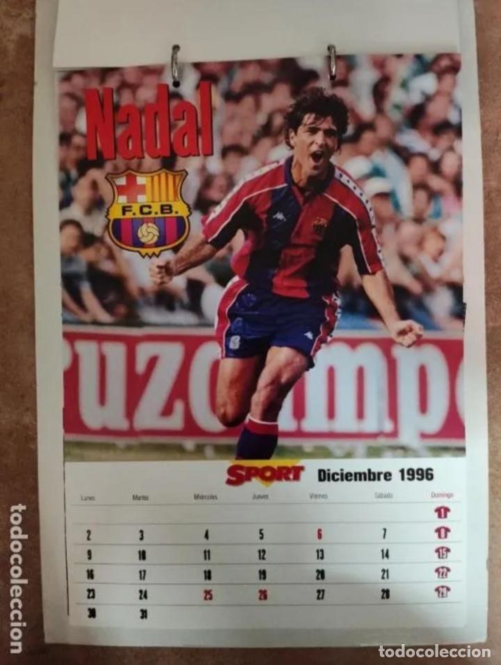 Coleccionismo deportivo: CALENDARIO BARÇA 1996 completo - Foto 12 - 205666211