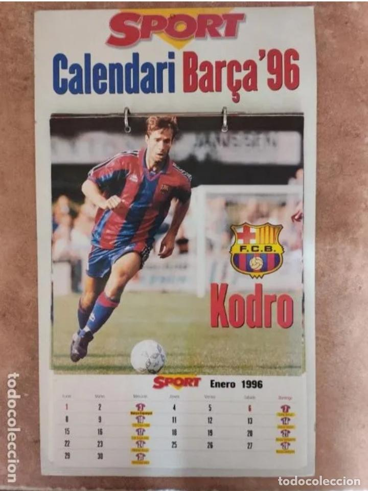 CALENDARIO BARÇA 1996 COMPLETO (Coleccionismo Deportivo - Documentos de Deportes - Calendarios)