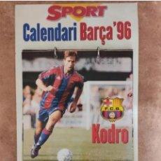 Coleccionismo deportivo: CALENDARIO BARÇA 1996 COMPLETO. Lote 205666211