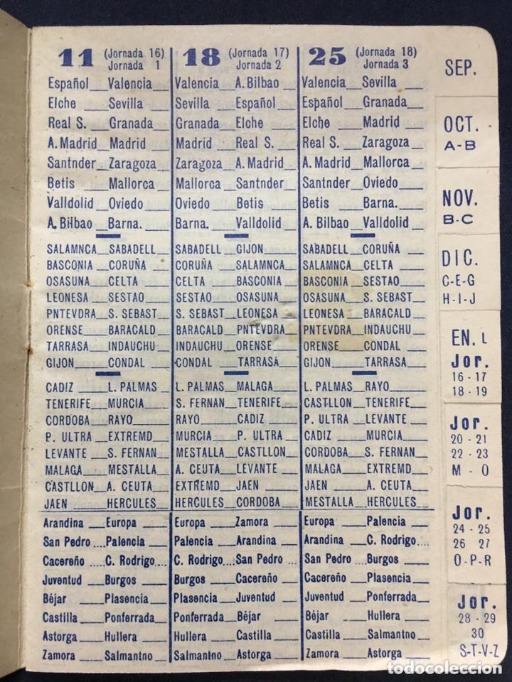 Coleccionismo deportivo: CALENDARIO TEMPORADA 1960 1961 - PRIMERA SEGUNDA (NORTE Y SUR) Y TERCERA DIVISIÓN - Foto 3 - 205711821