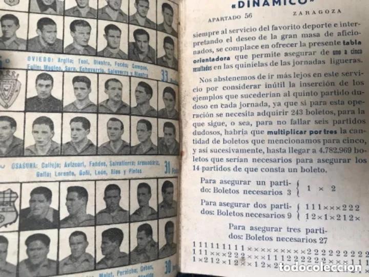 Coleccionismo deportivo: ANTIGUO CALENDARIO FUTBOL DINÁMICO AÑO 1951-1952 - Foto 5 - 205777938