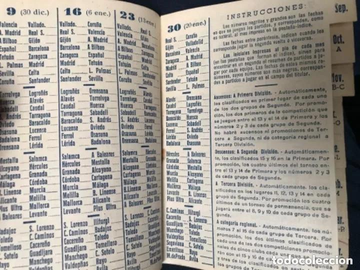 Coleccionismo deportivo: ANTIGUO CALENDARIO FUTBOL DINÁMICO AÑO 1951-1952 - Foto 6 - 205777938