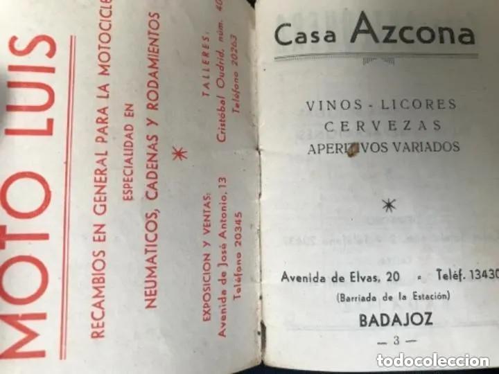 Coleccionismo deportivo: ANTIGUO CALENDARIO FUTBOL LIGA 1960 1961 PRIMERA SEGUNDA TERCERA BADAJOZ - Foto 2 - 205778943