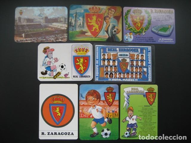 8 CALENDARIOS FUTBOL REAL ZARAGOZA. AÑOS 1975 - 79 - 93 - 95 - 96 - 97 - 98 - 00 (Coleccionismo Deportivo - Documentos de Deportes - Calendarios)