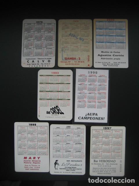 Coleccionismo deportivo: 8 CALENDARIOS FUTBOL REAL ZARAGOZA. AÑOS 1975 - 79 - 93 - 95 - 96 - 97 - 98 - 00 - Foto 2 - 205800362