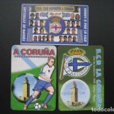Coleccionismo deportivo: 3 CALENDARIOS FUTBOL DEPORTIVO LA CORUÑA. AÑOS 1998 - 03 - 05. Lote 205800543