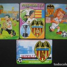 Coleccionismo deportivo: 4 CALENDARIOS FUTBOL VALENCIA C. F. AÑOS 1996 - 2000. Lote 205800663