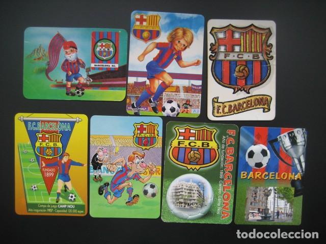 7 CALENDARIOS FUTBOL CLUB BARCELONA BARÇA. AÑOS 1989 - 90 - 95 - 97 - 02 - 04 - 08 (Coleccionismo Deportivo - Documentos de Deportes - Calendarios)