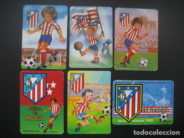 6 CALENDARIOS FUTBOL ATLETICO DE MADRID. AÑOS 1987 - 88 - 94 - 97 - 00 (Coleccionismo Deportivo - Documentos de Deportes - Calendarios)