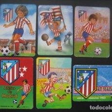 Coleccionismo deportivo: 6 CALENDARIOS FUTBOL ATLETICO DE MADRID. AÑOS 1987 - 88 - 94 - 97 - 00. Lote 205801320