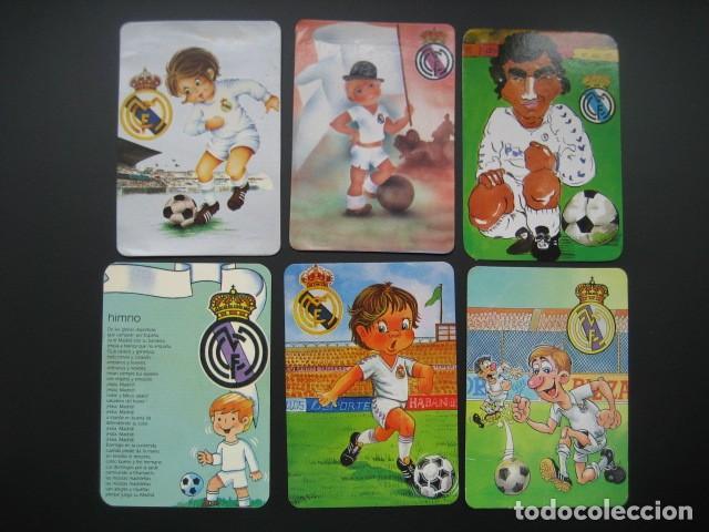 6 CALENDARIOS FUTBOL REAL MADRID. AÑOS 1977 - 88 - 91 - 95 - 96 - 01 - 02 (Coleccionismo Deportivo - Documentos de Deportes - Calendarios)