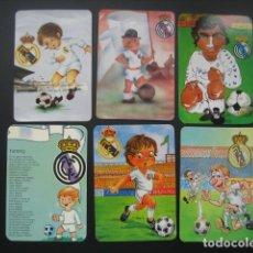 Coleccionismo deportivo: 6 CALENDARIOS FUTBOL REAL MADRID. AÑOS 1977 - 88 - 91 - 95 - 96 - 01 - 02. Lote 205801563