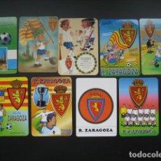 Coleccionismo deportivo: 9 CALENDARIOS FUTBOL REAL ZARAGOZA. AÑOS 1978 - 88 - 96 - 97 - 00 - 01 - 02. Lote 205801793