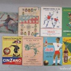Coleccionismo deportivo: LOTE DE 8 CALENDARIOS DE LIGA AÑOS 50 / VARIAS MARCAS Y AÑOS. Lote 206228067