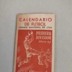 Coleccionismo deportivo: CALENDARIO DE FUTBOL PRIMERA DIVISIÓN AÑO 1944-1945 OBSEQUIO DE MARTINI ROSSO. Lote 206560035