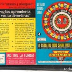 Coleccionismo deportivo: LA HISTORIA DEL FUTBOL ESPAÑOL. SUPER DINÁMICO. 1974 - 1975. (P/C49). Lote 209958890