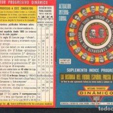 Coleccionismo deportivo: SUPLEMENTO ÍNDICE. DINÁMICO. 1974 - 1975. (P/C49). Lote 209959120