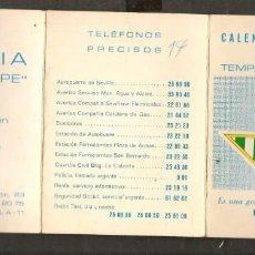 Coleccionismo deportivo: CALENDARIO NACIONAL DE LIGA. 1976 - 77. GENTILEZA: BAR BRASILIA. (P/C49). Lote 209959732