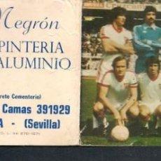 Coleccionismo deportivo: CALENDARIO. FUTBOL TEMPORADA 1978 - 1979 . GENTILEZA: TALLER HNOS. NEGRÓN. CASTILLEJA CTA.(P/C49). Lote 209960897