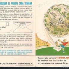 Coleccionismo deportivo: CALENDARIO FUTBOL TEMPORADA 1979 - 80 . GENTILEZA: FOSFORERA ESPAÑOLA. (P/C49). Lote 209961115