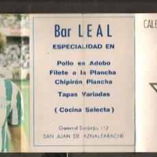 Coleccionismo deportivo: CALENDARIO NACIONAL DE LIGA 1983 - 84. GENTILEZA. BAR LEAL, SAN JUAN AZNALF. (P/C49). Lote 209961765