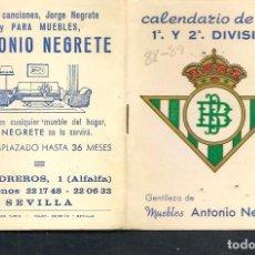 Coleccionismo deportivo: CALENDARIO DE LIGA 1988 - 89. GENTILEZA: MUEBLES ANTONIO NEGRETE. (P/C49). Lote 209962972