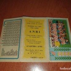 Coleccionismo deportivo: AT. DE MADRID, TRIPTICO CON EL CALENDARIO DE LIGA, AÑOS 60. Lote 210462407