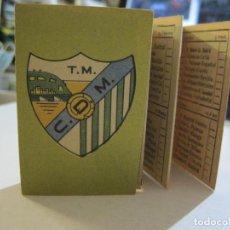Coleccionismo deportivo: MALAGA CF-CALENDARIO LIGA FUTBOL 1954 1955-VER FOTOS-(V-21.161). Lote 210697970
