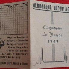 Coleccionismo deportivo: CALENDARIO FUTBOL 1947 CAMPEONATO DE BANCA VALENCIA ORIGINAL. Lote 210757224