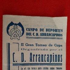 Coleccionismo deportivo: CALENDARIO FUTBOL TORNEO DE COPA CD ARRANCAPINOS EQUIPOS VALENCIA Y CUENCA ORIGINAL RB. Lote 210758090