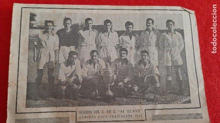 Coleccionismo deportivo: CALENDARIO FUTBOL LIGA TEMPORADA 1947 1948 EDUCACION Y DESCANSO EQUIPO RENFE Y OCASO ORIGINAL RB - Foto 3 - 210758295