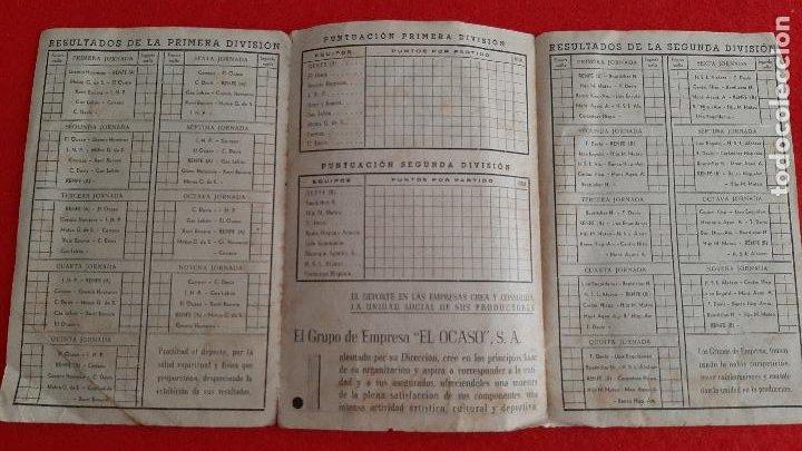Coleccionismo deportivo: CALENDARIO FUTBOL LIGA TEMPORADA 1947 1948 EDUCACION Y DESCANSO EQUIPO RENFE Y OCASO ORIGINAL RB - Foto 4 - 210758295