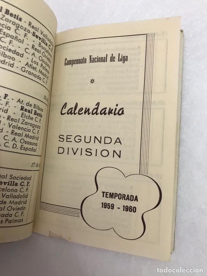 Coleccionismo deportivo: CALENDARIO LIGA FÚTBOL. RAIMUNDO. TEMPORADA 1959 - 1960. ESPAÑA. REAL BETIS BALOMPIÉ. SEVILLA F.C - Foto 7 - 210946285