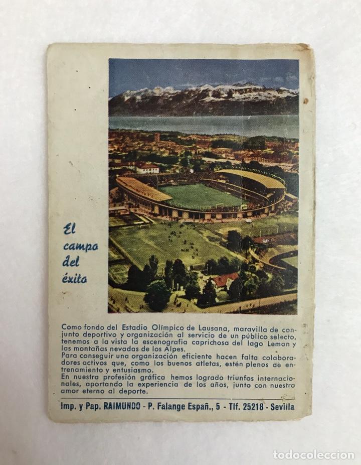 Coleccionismo deportivo: CALENDARIO LIGA FÚTBOL. RAIMUNDO. TEMPORADA 1959 - 1960. ESPAÑA. REAL BETIS BALOMPIÉ. SEVILLA F.C - Foto 10 - 210946285