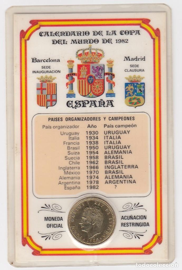 CALENDARIO DE LA COPA DEL MUNDO DE ESPAÑA82 CON MONEDA OFICIAL ACUÑACIÓN RESTRINGIDA.VISITAR REVERSO (Coleccionismo Deportivo - Documentos de Deportes - Calendarios)