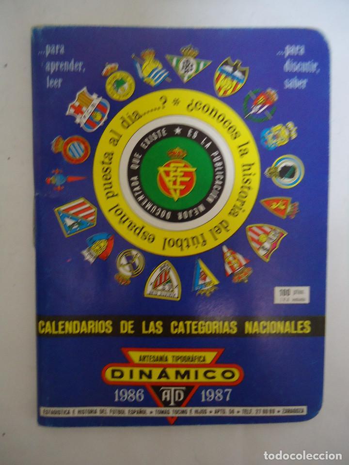 CALENDARIO DINAMICO DE LA TEMPORADA 1986 - 1987. (Coleccionismo Deportivo - Documentos de Deportes - Calendarios)