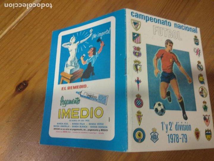 Coleccionismo deportivo: CAMPEONATO NACIONAL DE FUTBOL 1ª y 2ª DIVISION TEMPORADA 1978 - 79 CALENDARIO PEGAMENTO IMEDIO - Foto 2 - 211757371