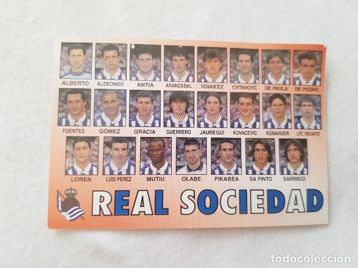 CALENDARIO TIPO ALMANAQUE REAL SOCIEDAD (AÑO 1999) CON FOTO DE LOS JUGADORES (Coleccionismo Deportivo - Documentos de Deportes - Calendarios)