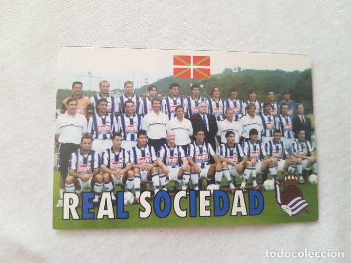 CALENDARIO TIPO ALMANAQUE REAL SOCIEDAD (AÑO 2001) CON FOTO DE LA PLANTILLA (Coleccionismo Deportivo - Documentos de Deportes - Calendarios)