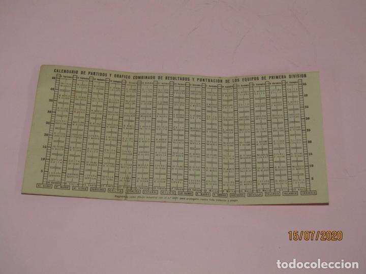 Coleccionismo deportivo: Antiguo Calendario Desplegable del Campeonato Nacional de Liga del Año 1951-52 Publi de Radios ASKAR - Foto 3 - 211868241